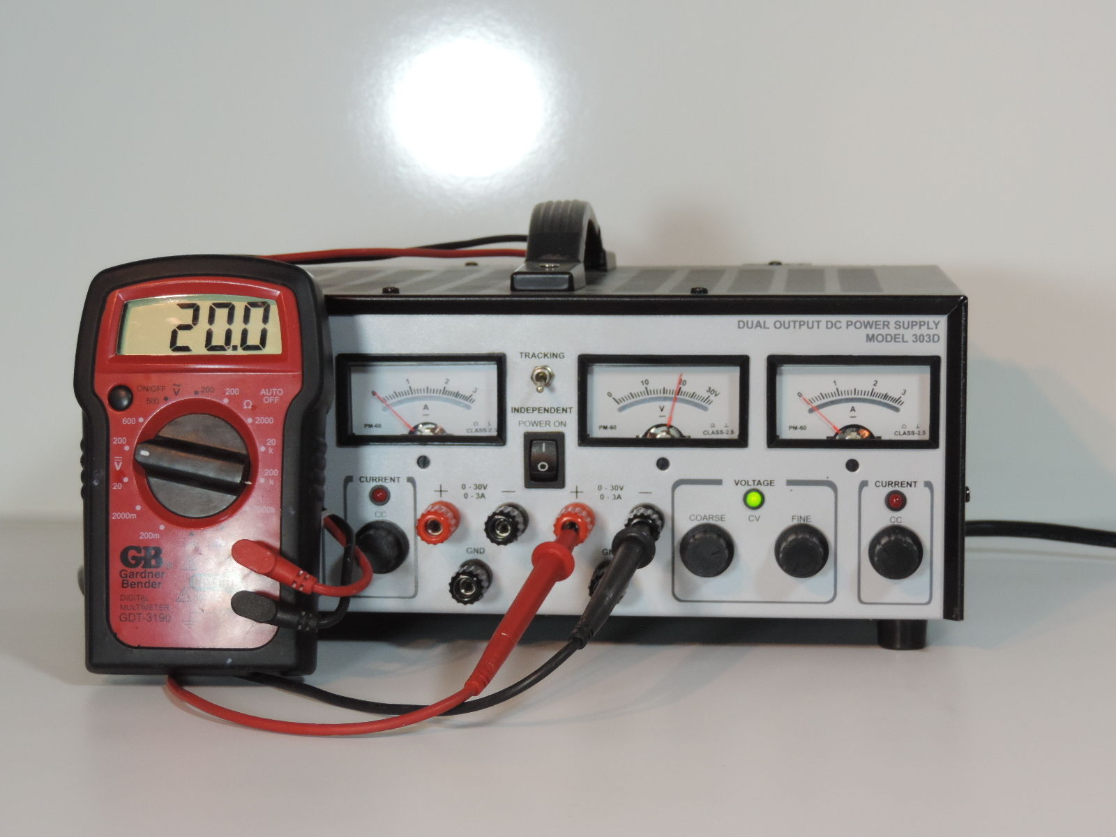 Electro Industries 303D Dual Adjustable DC Power Supply