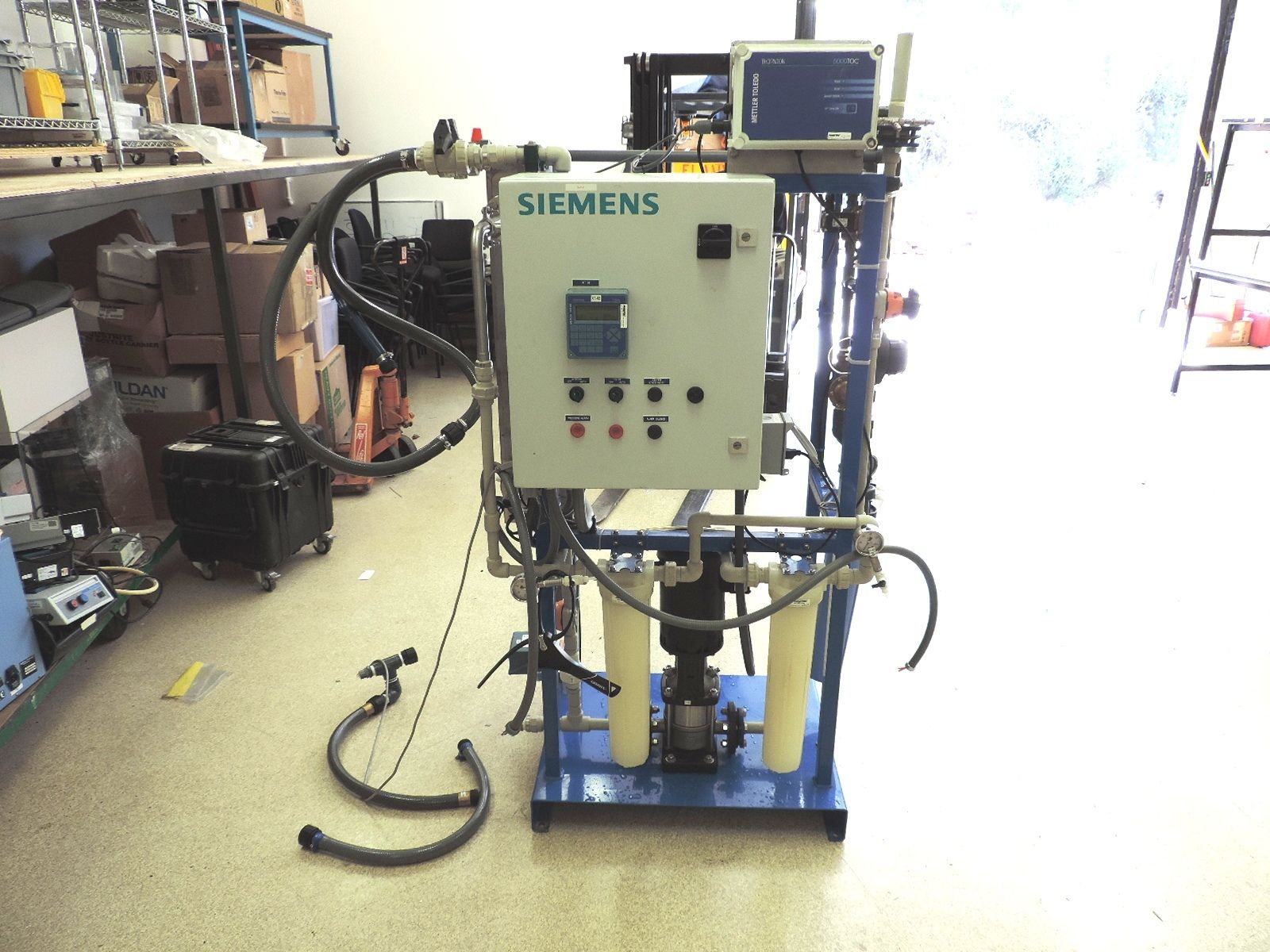 Siemens™ Dionized Water Supply system